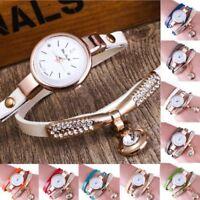 Fashion Women Ladies Girls Luxury Quartz Analog Crystal Bracelet Dress Watch