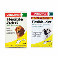 Vetzyme Joint Tablets for Dog High Strength Flexible Joint Capsules 30 60 90 270