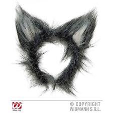 Plush Wolf Ears Headband Halloween Moon Forest Fancy Dress Costume Accessory