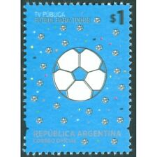 SOCCER BALLS-2014-ARGENTINA-STAMPS-VARIETY: DOUBLE PRINTING OF BLACK-MNH