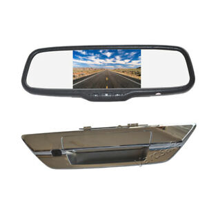 Reversing Backup Camera+Clip-on Rear View Mirror Monitor Screen for Toyota Hilux