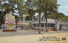 GA 1950's The Cactus Grill & Atlanta Motel in Georgia - Fulton County Coca Cola