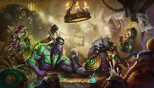 Poster 42x24 cm Pietra refrattaria Eroi Of Warcraft Videogioco Videogame 11
