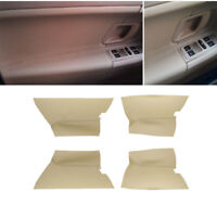 4x Real Leather Car Door Panel Armrest Cover Replace Pad For Skoda Fabia 08-14