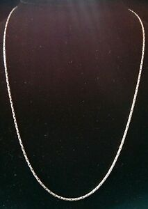 """Sterling Silver Link Chain 18.5"""" 1mm  5.79 grams"""