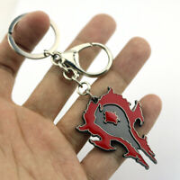 World of Warcraft The Horde Alliance Sign Metal Keychain Key Ring Pendant Gift
