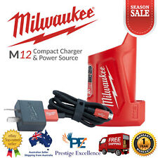Milwaukee M12TC-0 12V M12 Compact Charger & Power Source Micro USB Braided Cable