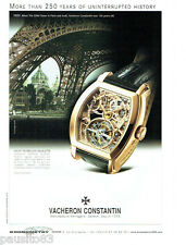 PUBLICITE ADVERTISING 1016 2007  Vacheron Constantin Montre Malte tourbillon squ