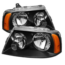 Lincoln 03-06 Navigator Black Housing Replacement Headlights Left + Right Set