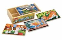 Melissa and Doug 4-in-1 12 Piece Pets Puzzles 13790