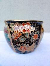 Old Japan Hand Painted Satsuma Porcelain Vase / Jar - Nice Display Piece