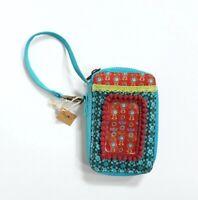 Natural Life Boho Fabric Zip Around Wristlet Wallet