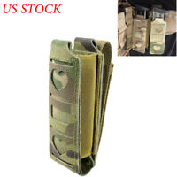 Tactical Pistol Magazine Pouch Molle Metal Buckle Single Mag Holster Tools Pouch