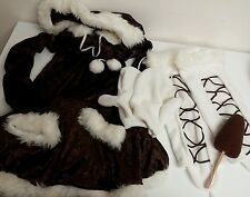 Halloween ESKIMO CUTIE Womens Costume Dress by DreamGirl 6 piece set Size M