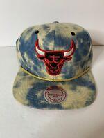 Hardwood Classics Mitchell & Ness Chicago Bulls Bleached Denim Snap Back Hat