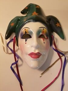 Vintage Clay Art Mask Hand Painted In San Francisco