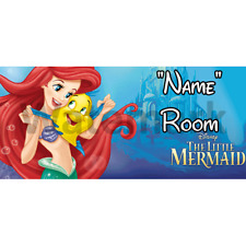 Disney Little Mermaid Personalised Bedroom Door Sign - Any Text (2)