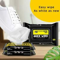 Travel Portable Sneaker Disposable Quick Cleaning Wet White Shoes Wipes Art X0F6