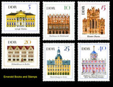EBS East Germany DDR 1967 Important Buildings (I) Michel 1245-1250 MNH**