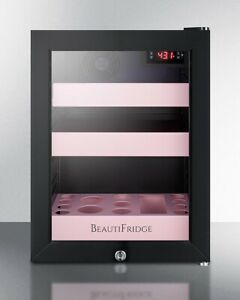 Summit LX114LP BeautiFridge Cosmetics Refrigerator - Glass/Pink New. Retail $750