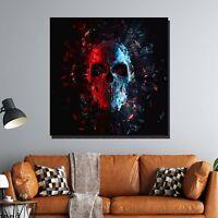 Fractal Skull Skulls and Dark Art Canvas Print for Wall Decor
