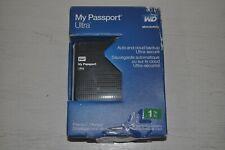 WD My Passport Ultra 1 TB Portable External USB 3.0 Hard Drive WDBZFP0010BBK