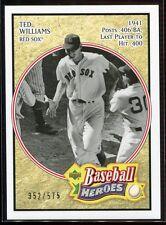 2005 Upper Deck Baseball Heroes 186 Ted Williams 352/575