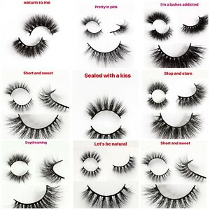 Eyelashes 3D Mink Hair 100% LUXURY Natural Long Eye Lashes False Handmade Makeup