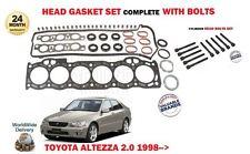 FOR TOYOTA ALTEZZA 2.0i 3S-GE 1998-2005 NEW HEAD GASKET SET + HEAD BOLT KIT