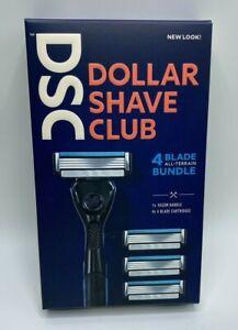 Dollar Shave Club 4 Blade All-Terrain Bundle Includes Razor Handle Cartridges