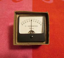New Listingvintage Nos Simpson Dc Microamperes Panel Meter