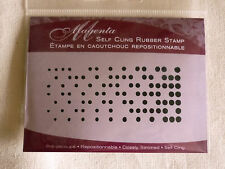 Texture With Circles - Magenta Cling Stamp