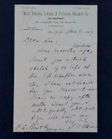 1887 Stephen Elkins Autograph Sec of War Civil War Union Army Captain Signature