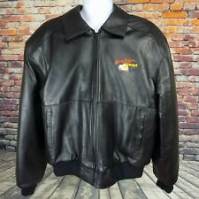 Baywatch Hawaii Television Show Californian Black Leather Jacket Men's XXL 2XL