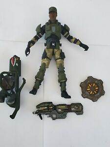 Halo 3 Sargent Avery Johnson W/ Laser Action figure Mcfarlane