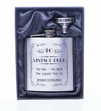 Engraved VINTAGE DUDE Birthday Hip Flask Gift For Uncle/Brother/Grandson/Nephew