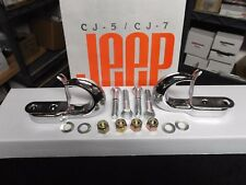 Jeep CJ Laredo, Jeep CHROME CJ tow hooks, Jeep YJ tow hooks, tow hooks
