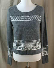 Wet Seal, Medium, Gray with White Accents Sweater