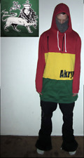"Akrynm Tall ""Hot box"" Hoodie XLT - Red/Yellow/Green Ski / Snowboard Hoodie"