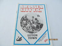 Football Programme. Division Two, Swansea City v Luton Town. 1980.