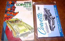 1961 61 Corvette Service Book & Owners Manual 'Vette 1st generation