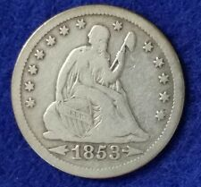 1953 O Seated Liberty Quarter - Fine Details Arrows and Rays