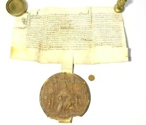 c1604 Original JAMES I His Wax GREAT SEAL on Letters Patent Vellum Document #1
