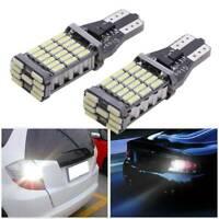 2x White T15 W16W 45 SMD 4014 Error Free LED Car Reverse Back Bulbs Light 6000K