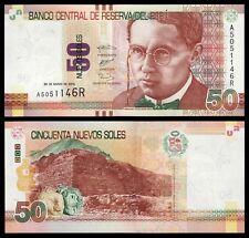 Peru  50 Nuevos Soles 22-3-2012  Pick 189  SC = UNC