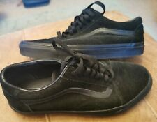 VANS Old Skool All Black Suede SIZE UK 9.5 US 10.5 EUR 45 Great Condition