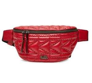 karl lagerfeld SOLD OUT designer red leather quilted bag near new without tags