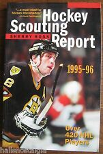 """1995-96 """"Hockey Scouting Report"""" Record Book by Sherry Ross,  420 NHL Players"""