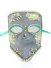 GOLD CRACKLE VENICE VENETIAN MASQUERADE MASK MARDI GRAS CARNIVAL PARTY MASKS C25