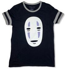 Spirited Away No Face Ringer T-Shirt Med 2001 Anime Black Kaonashi Ghibli Japan